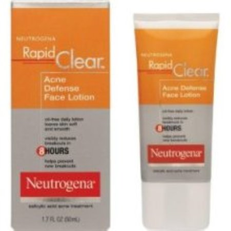 Neutrogena Rapid Clear Acne Defense Face Lotion 1.70 oz (Pack of