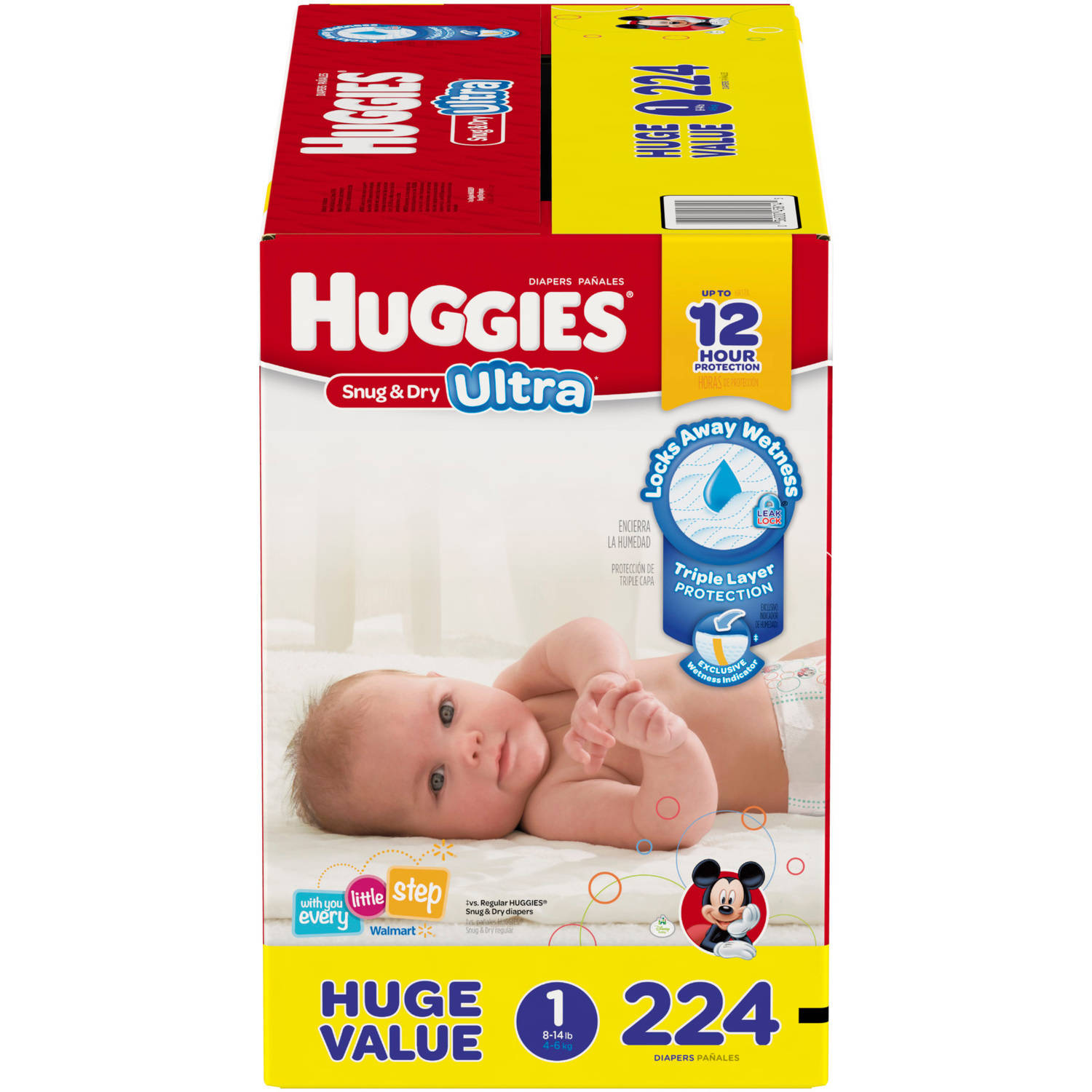 HUGGIES Snug & Dry Ultra Diapers Huge Pack (Choose Your Size)