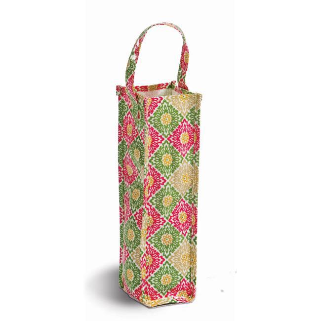Picnic Plus PSA-801GG toile enduite sac de bouteille de cadeau pour le vin et les boissons - vert Gazebo - image 1 de 1