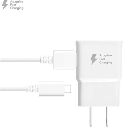 Adaptive Fast Charger Kit Compatible with Xiaomi Mi Max 2 Devices - [Wall Charger + 4 Feet USB C Cable] - AFC uses Dual voltages for up to 50% Faster Charging! - White - image 9 of 9