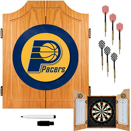 Indiana Pacers NBA Wood Dart Cabinet Set by
