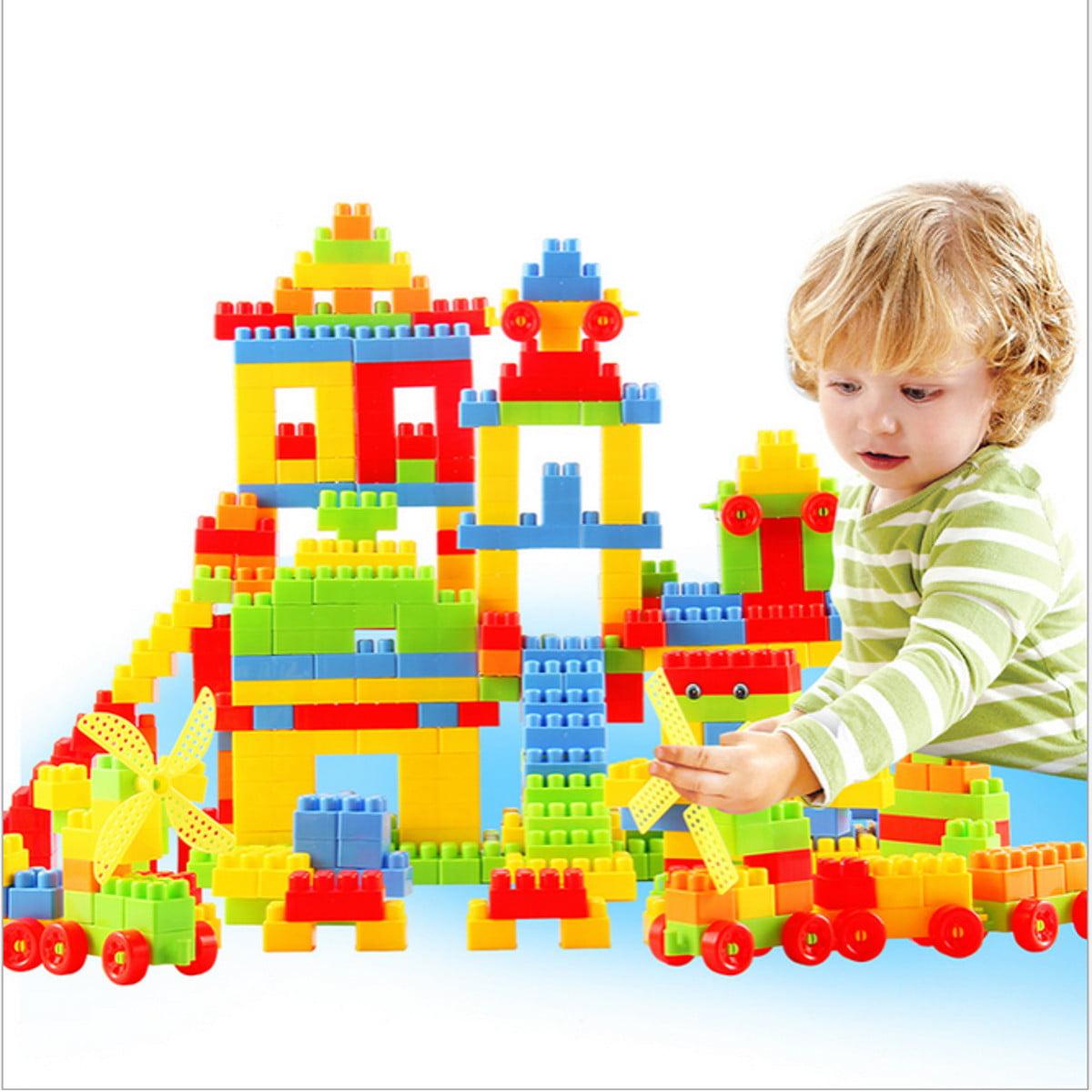 80Pcs Children Kids Plastic Puzzle Building Blocks Bricks Educational Toy by