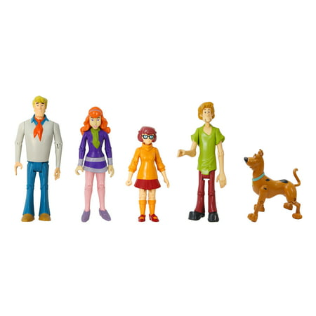 Scooby Doo Mystery Machine Toys (Scooby Doo Mystery Mates Mystery Solving Crew Action Figure 5-Pack [Version)