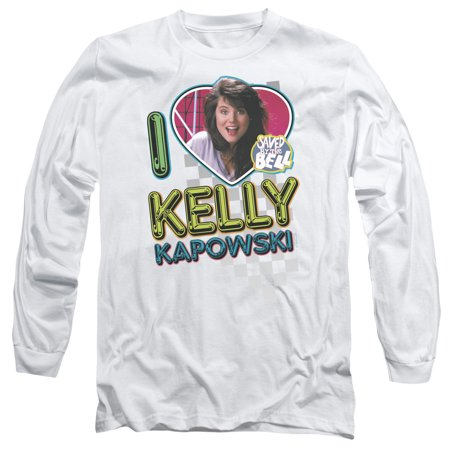 Trevco SAVED BY THE BELL I LOVE KELLY White Adult Unisex - Kelly Saved By The Bell