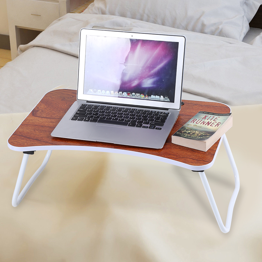 WALFRONT Multi-purpose Folding Laptop Bed Desk Portable Standing Table Breakfast Tray, Portable Standing Table, Bed Table