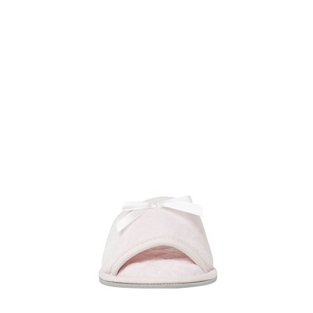 DF by Dearfoams Women's Velour Open Toe slippers