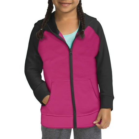 Hanes Tech Fleece Full Zip Hooded Jacet (Little Girls & Big Girls)
