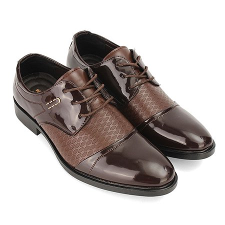 323a95805895c Meigar Men Business Wingtip Oxfords Dress Formal Brogue Lace Up Casual  Leather Shoes