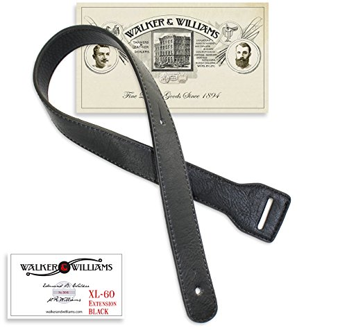 Walker & Williams XL-60 Black Strap Extender Lengthens W&W Straps Up To 60""