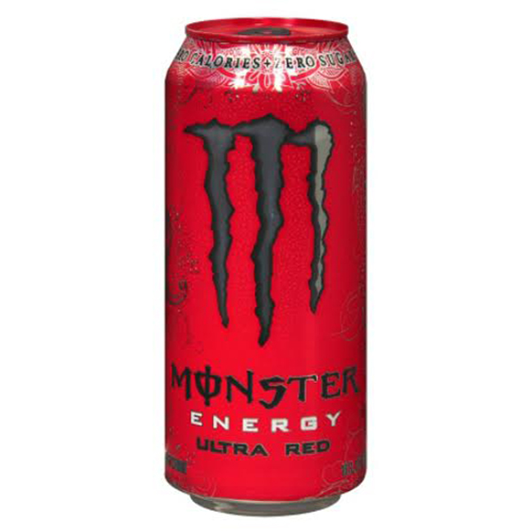 Monster Energy Drink Ultra Red 16 Oz Cans - Pack of 24