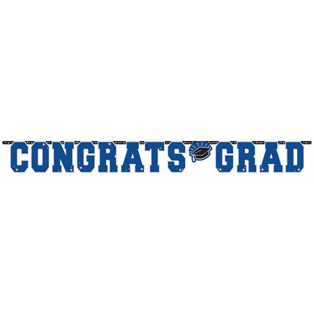 Graduation Giant 10 Foot Letter Banner Blue - Graduation Banner Ideas