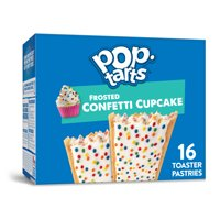 Kellogg's Pop-Tarts, Breakfast Toaster Pastries, Frosted Confetti Cupcake, Value Pack, 27 Oz, 16 Ct