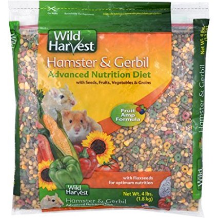 Hamster & Gerbil Advanced Nutrition Diet, 4 lb., Pack of 2 (8 lb. Total), A tantalizing premium blend of food By Wild Harvest Ship from US