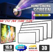"120""/100""/84""/72""/60"" 16:9 High Contrast Collapsible 4K Portable Foldable Movie Manual Projector Screen Projection HD Home Film Theater Christmas Party Movie Cinema FOR WORLD CUP"