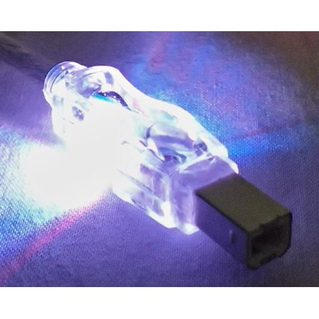 QVS 6ft USB 2.0 480Mbps Type A Male to B Male Translucent Illuminated/Lighted Cable with Purple LEDs