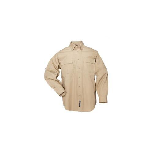 5.11 Tactical Cotton Tactical Long Sleeve Shirt, Coyote Brown