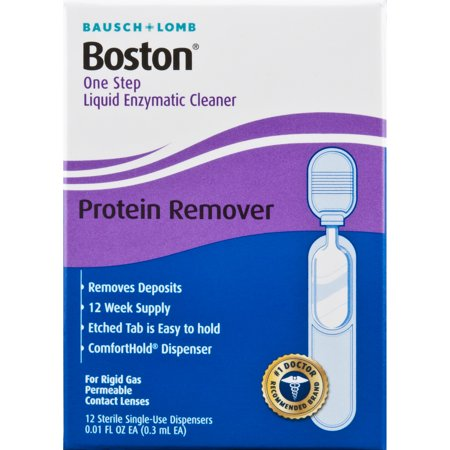 Lomb Boston Cleaner (Bausch & Lomb Boston One Step Liquid Enzymatic Cleaner 0.08 fl oz, 12 ct )
