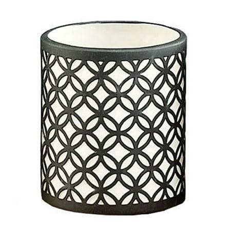 DonnieAnn Company Circular Link Porcelain Tealight Candle Holder