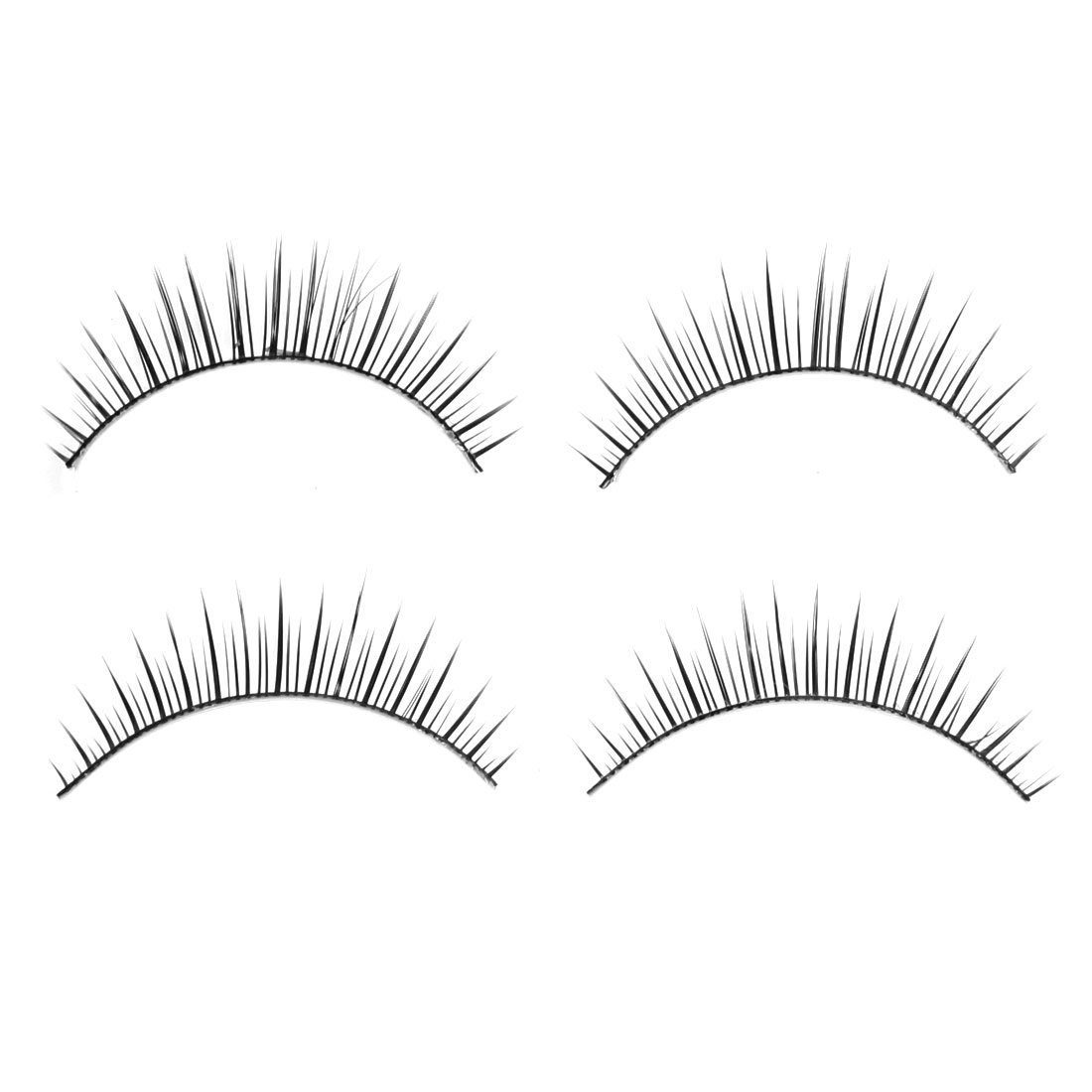 Unique Bargains Unique Bargains Long Thick False Eyelashes Fake Lashes Extension 2 Pairs