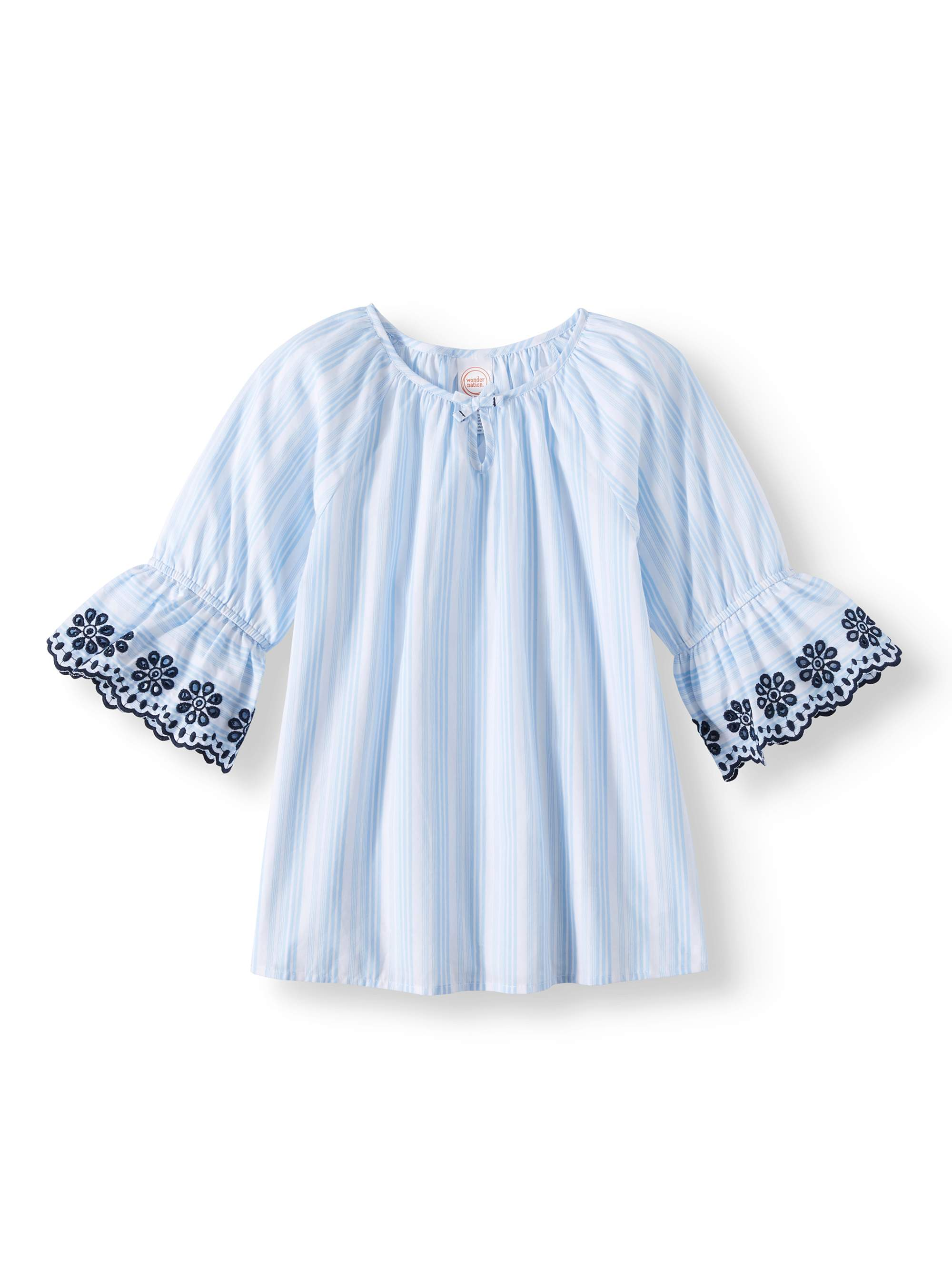 3/4 Bell Sleeve Top (Little Girls, Big Girls, & Plus)