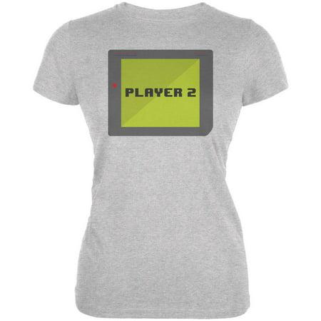 Halloween Old School Gamer Player 2 Juniors Soft T Shirt