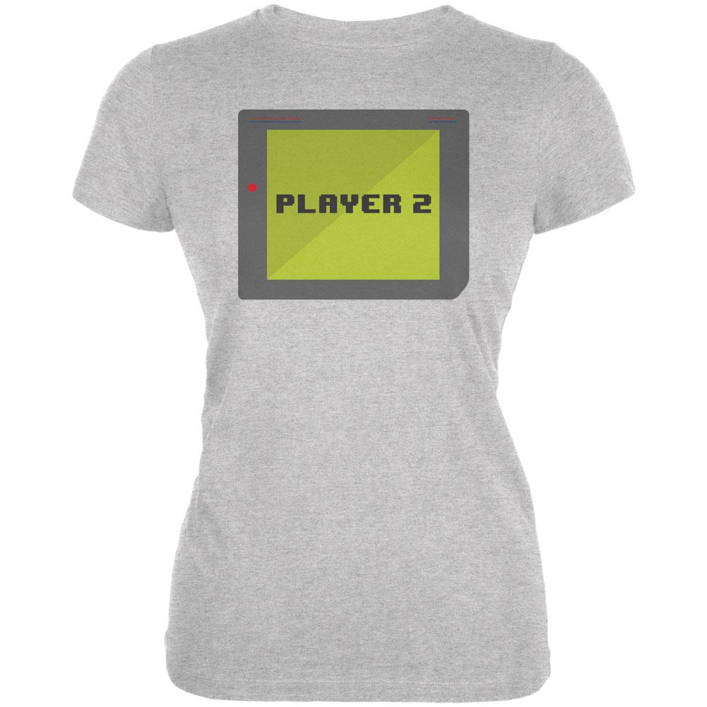 Halloween Old School Gamer Player 2 Juniors Soft T Shirt