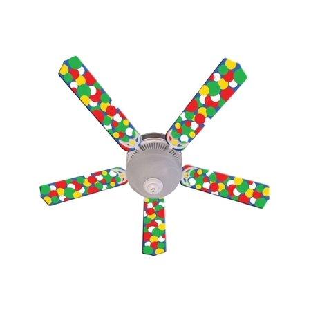 - Bold Big Dots Designer 52In Ceiling Fan Blades Set