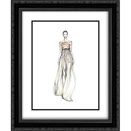 Portfolio 128 2x Matted 20x24 Black Ornate Framed Art Print by Riegelman, Nancy