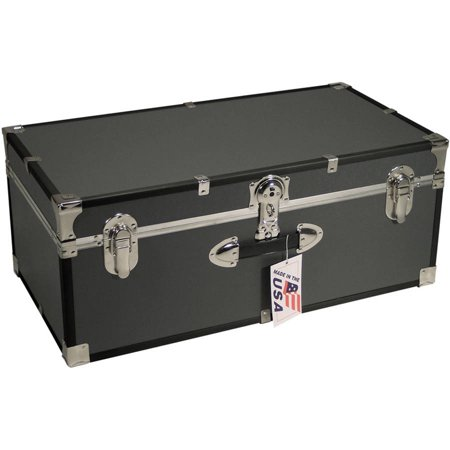 Mercury Luggage Seward Trunk Stackable Storage Footlocker, 30
