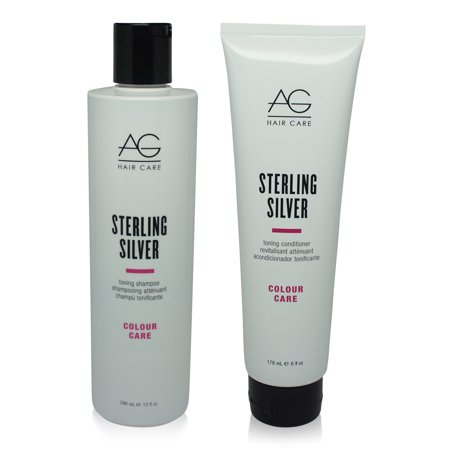 Ag Hair Fast Food - AG Hair Sterling Silver Shampoo 10 Oz & Conditioner 6 Oz - Combo Pack