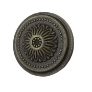 Household Zinc Alloy Vintage Style Floral Drawer Handle Pull Knob Bronze Tone