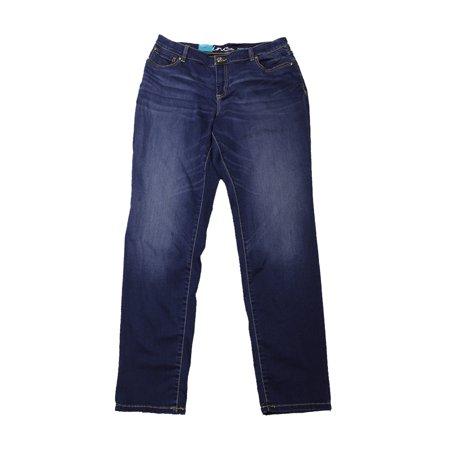 Inc International Concepts Blue Curvy-Fit Stretch Skinny Jeans
