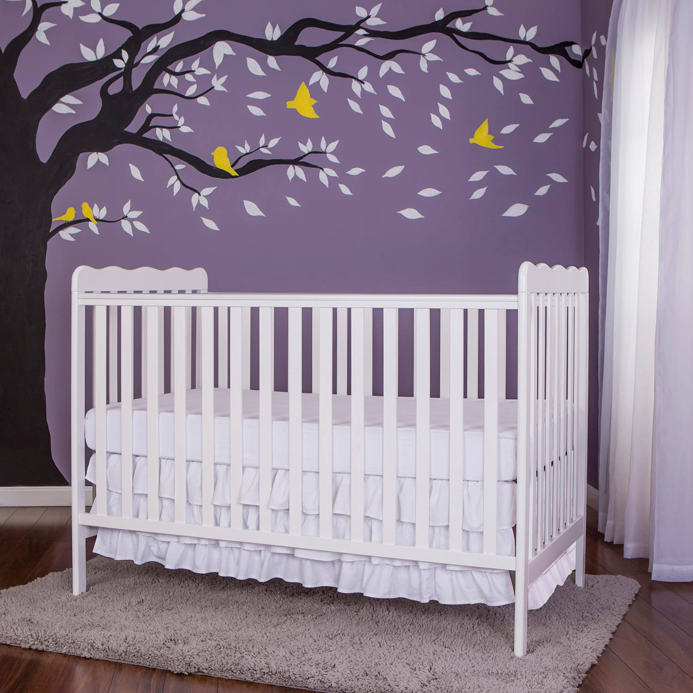 Dream On Me Classic 2-in-1 Convertible Crib, White