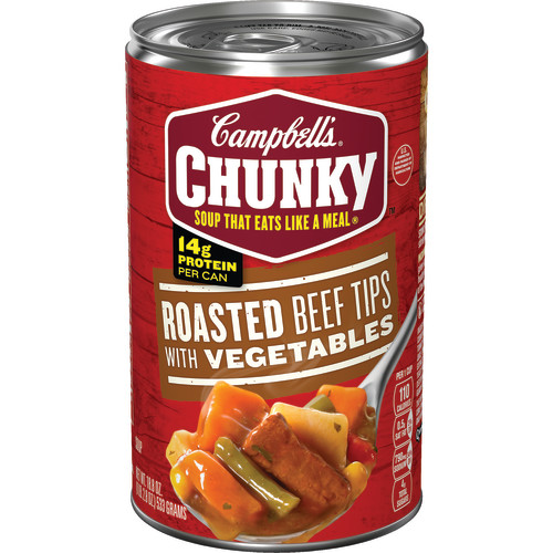 Campbell's Chunky Roasted Beef Tips with Vegetables Soup, 18.8 oz.