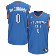Russell Westbrook Oklahoma City Thunder NBA Adidas Mens Blue Official Road Replica Jersey