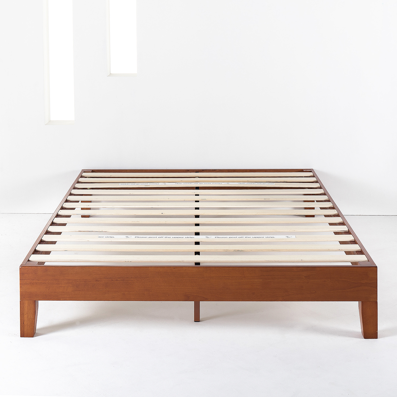 Best Price Mattress 12 Inch Grand Solid Wood Platform Bed Frame Walmart Com Walmart Com