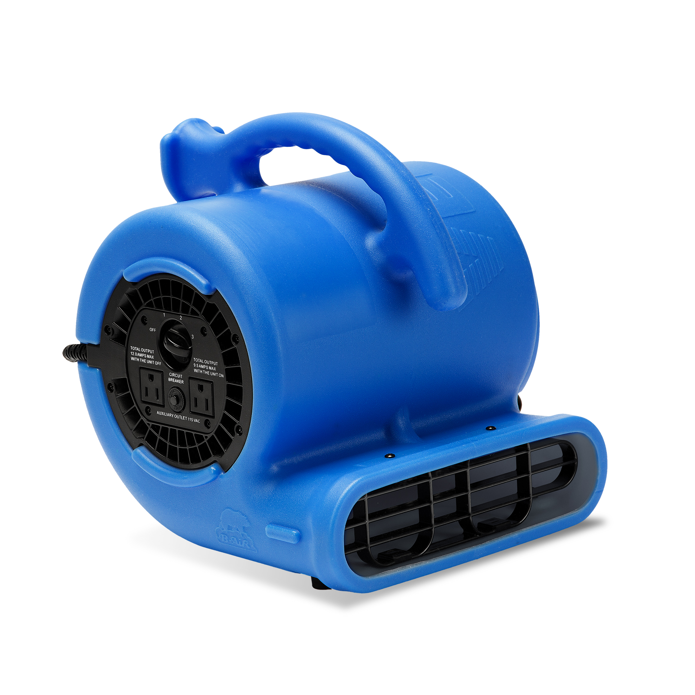 B-Air VP-25 1/4 HP Mover for Water Damage Restoration Carpet Dryer Floor Blower Fan Home and Plumbing Use, Blue