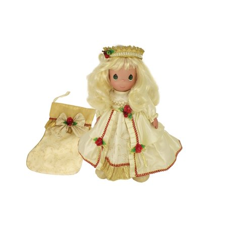 """Precious Moments Dolls by The Doll Maker, Linda Rick, May Your Christmas Be Merry and Bright, 16"""" Stocking Doll"""