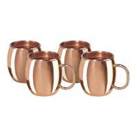 Oggi Copper Moscow Mule Shot Mug, Set of 4