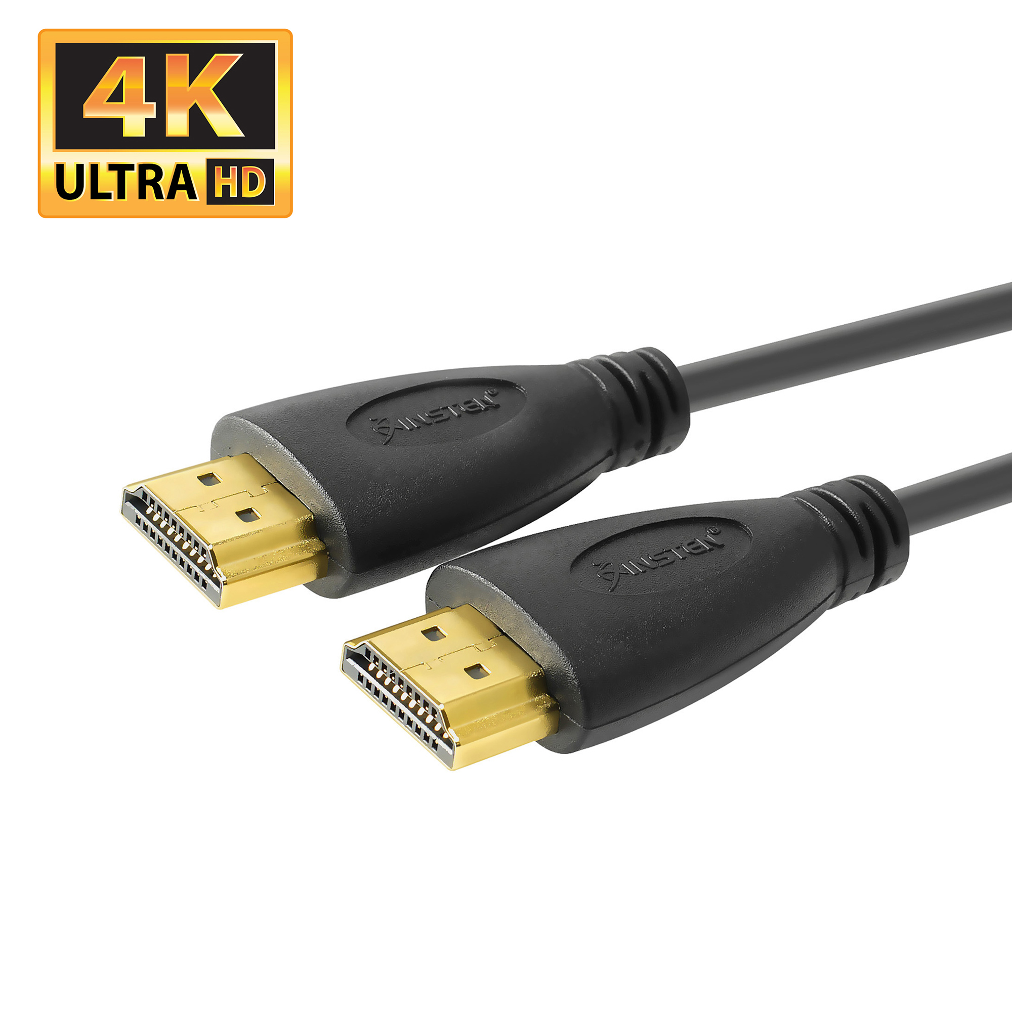Insten 15' 4K HDMI Cable HDMI Cable for TV Gold Plated High Speed HDMI Cable (version 1.4) [Supports UHD 4K 2160p , Full HD 1080p , 3D , Multi View Video , Ethernet , Audio Return & Smart TV]