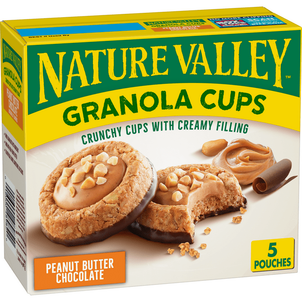Nature Valley Granola Cups Peanut Butter Chocolate Chip 6 75 Oz Walmart Com Walmart Com