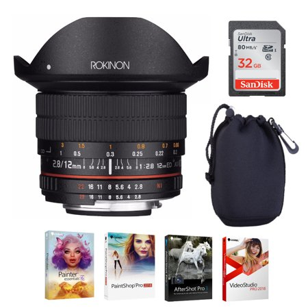Rokinon 12mm f/2.8 ED AS IF NCS UMC Fisheye Lens for Canon EF Mount (Canon Ef 15mm F 2-8 Fisheye Review)