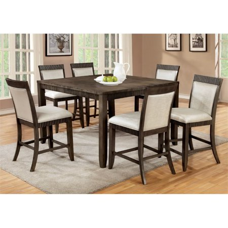 Furniture of America Bonet 7 Piece Extendable Counter Dining Set