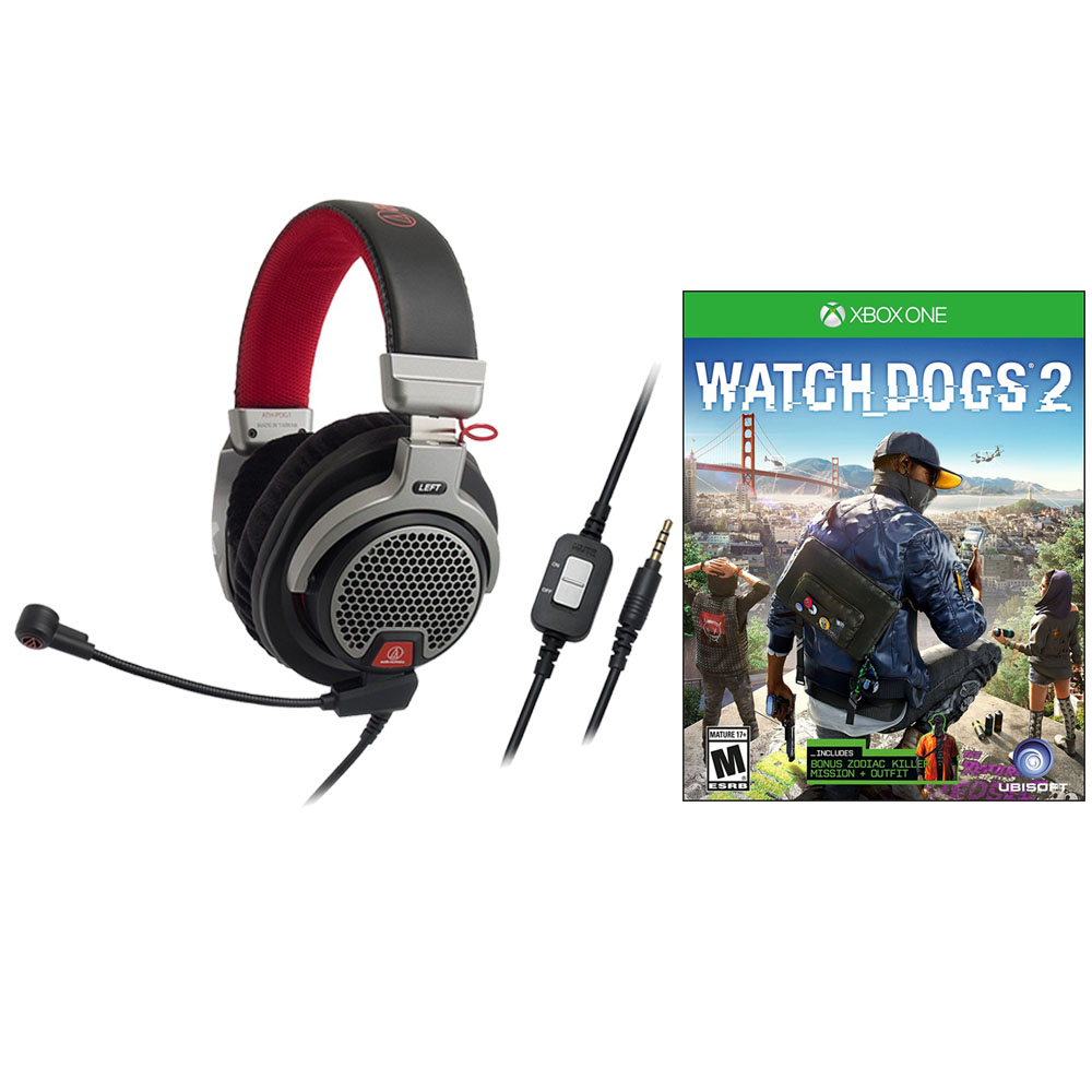 Audio-Technica ATH-PDG1 Open-Back Premium Gaming Headset + Watch Dogs 2 for Xbox One by Audio Technica