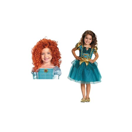 Brave Merida Girls Disney Costume Kit - Brave Merida Dress