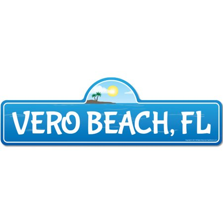 Vero, FL Florida Beach Street Sign   Indoor/Outdoor   Surfer, Ocean Lover, Décor For Beach House, Garages, Living Rooms, Bedroom   Signmission Personalized (Vero Beach Florida Mall)