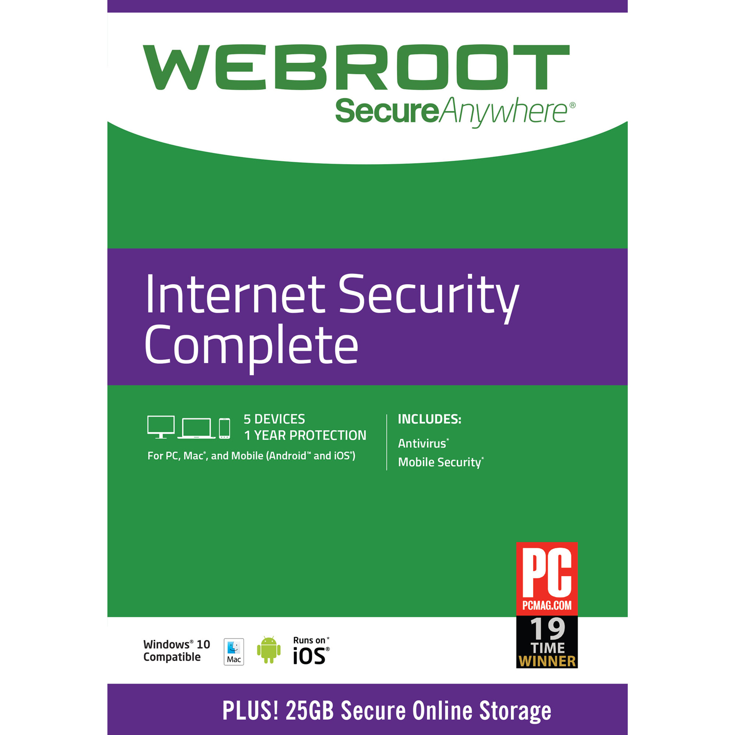 Webroot Internet Security Complete 5 Devices 1 Year (Email Delivery)