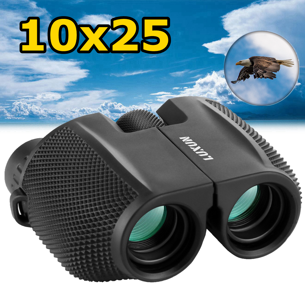 Low-Light Night Vision Binoculars Telescope, SGODDE 10x25 Waterproof Binocular with Large Eyepiece &Super High Powered for Day and Night Hunting Bird Watching