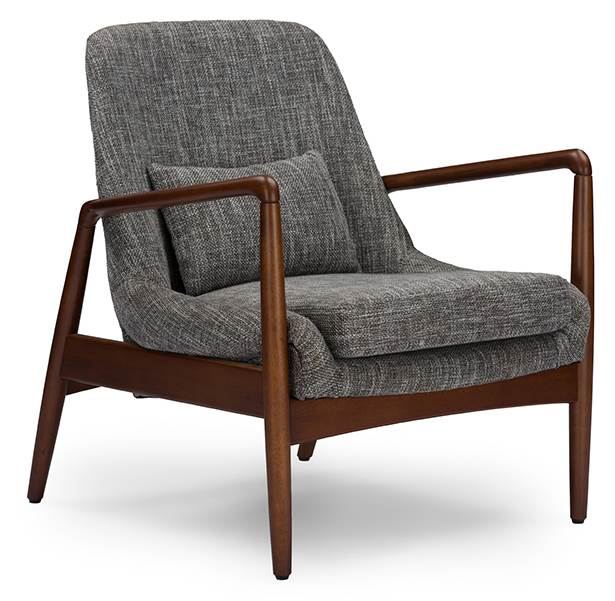 Mid Century Modern Accent Chair In Gray Walmart Com