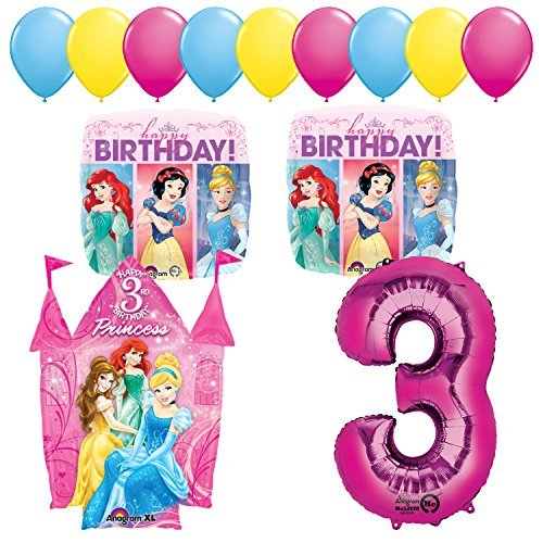 Princess Party 3rd Birthday Party Supplies and Balloon Decorations